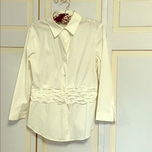 White blouse with waist details